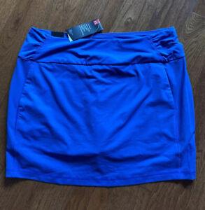 $70 Under Armour HeatGear Golf Women's Skirt Built-in Shorts Blue NWT Large