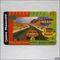 Telstra Timezone Desert Car A971112 1429 $5 Phonecard (PH3)