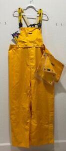 NWT Viking Journeyman 420D Ripstop Nylon Rain Pants w/Suspenders & Bib Size 3XL