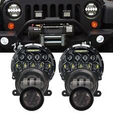 7''LED Headlight Fog Lamp Amber Turn Signal light for Jeep Wrangler JK 2007-17