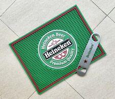 Free Shipment Heineken bar mat drip mat spill mat & handle Bottle Opener bar set