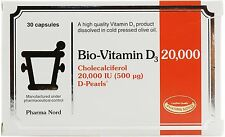 Pharma Nord Bio-Vitamin D3 20,000IU 500mcg Perlen 30 Capsules