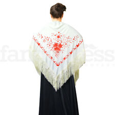 NEW Spanish Rose Flamenco Dance Shawl Beautiful Traditional Embroidered Manton