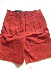 Cambridge Classics  100% Cotton Mens Pleated Short Red Size: 30