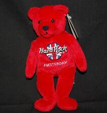 "Rita Beara Hard Rock Cafe Amsterdam Red Teddy Bear Collectible Plush 8"" Toy 2000"