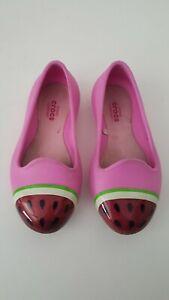 Crocs Eve Novelty Watermelon Flat Toddler Shoes Size 9