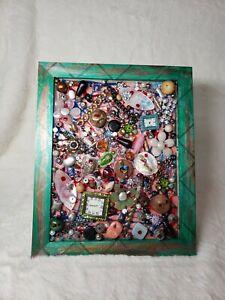 OOAK Vintage Jewelry Art Framed Ocean City, NJ 2006 Cloud 9