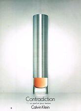PUBLICITE ADVERTISING 104  2000   CALVIN  KLEIN  parfum femme CONTRADICTION
