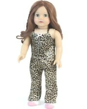 Leopard Print Satin Pajama Set 18 in Doll Clothes Fits American Girl