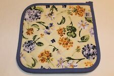 NOW DESIGNS Potholder Hot Pad ENGLISH GARDEN COLLECTION NWT 100% Cotton Floral