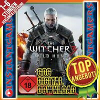 THE WITCHER 3 WITCHER III WILD HUNT BASE BASIS SPIEL KEY CODE SERIAL GOG PC