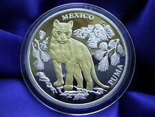 LIBERIA - 10 Dollar 2004 ** PUMA ** Mexiko Gold Silber Brillanten