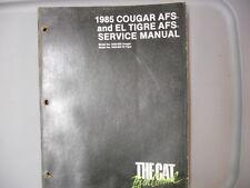 Artic Cat Snowmobile  Factory Service Repair Shop Manual 85 Cougar El Tigre AFS