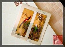 Set of 2 Beautiful Ancient Painting Magnetic Bookmark Spring Bird and Flower