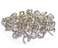 10 Biegeringe Ringe 6,7 mm extra stark 925 Silber Schmuckzubehör Schmuck basteln