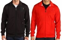 NWT Authentic PUMA Iconic Ferrari SF Men's Black Red Rosso Sport Track Jacket 2