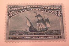 SCOTT #232 3C 1893 COLUMBIAN  MINT NEVER HINGED