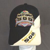 Daytona 500 StrapBack Hat 2004 Baseball Cap Nascar Embrodiered Flags
