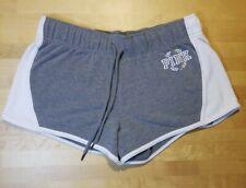 Victoria Secret PINK Shorts - Womens Size L - Gray & White