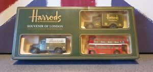 Harrods Souvenir Of London Lledo 3 Pce Set Item HR2003 Bus Van Vintage Made...