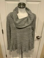 Postmark Anthropologie Gray Waffle Knit Cowl Neck Sweater, Size Small