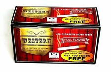 Western King Size Cigarette Tubes (box) 400 Filter Tubes Full Flavor RYO