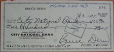 BRUCE MACLEISH DERN: Autograph 1975 Hand-Signed Personal Check