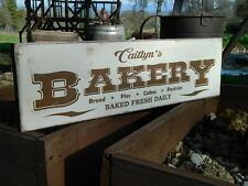 """Distressed Primitive Country Wood Sign - Your Name Bakery sign 5.5"""" x 19"""""""