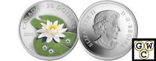 2010'Water Lily'Colorized and Crystallized Proof $20 Silver .9999Fine(NT)(12661)