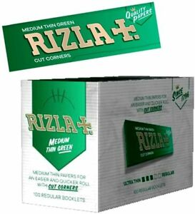 Rizla Green Cigarete Papers 5/10/15/20/25 booklets Free Fast Postage Irish Stock