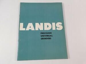 Vintage 1950's Landis Precision Universal Grinders Catalog