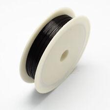 1Roll Black 0.5mm Iron Wire Beading Thread Jewelry Craft Repair Tool DIY Finding