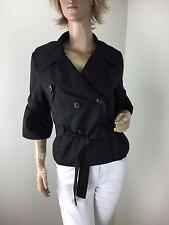 BASQUE Black 3/4 Bell Sleeves Short Trench Dress Coat Size 10 BNWOT