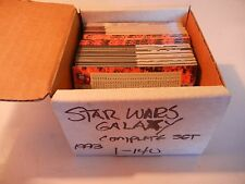 Star Wars Galaxy series 1 Topps Trading Card complete set 1-140 MINT 1993