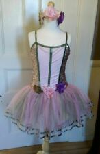 Curtain Call Pink and Green Tutu Costume Adult SM