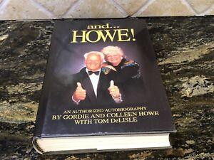 "GORDIE HOWE SIGNED AUTOGRAPHED BOOK ""And Howe"" DETROIT REDWINGS NHL Mr. Hockey"