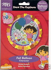 "Dora the Explorer 18"" round foil helium balloon for party. Non birthday"