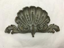 Vintage Hard Resin Ornate Carved Shell Type Ornamentation Decorative Accent