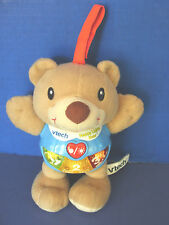 VTECH~HAPPY LIGHTS BEAR~Sings~Talks~Lights~NUMBERS~EMOTIONS~Attaches to Crib