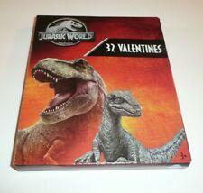 Jurassic World Children's 32 Valentines Valentine's Day Cards Dinosaurs Park
