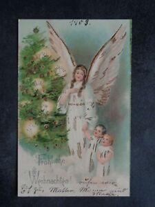ENGEL - Engel Kinder Weihnachtsbaum Goldglanz leicht geprägt - ca. 1903