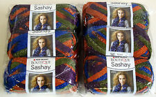 Red Heart Yarn Boutique Sashay Yarn 6 Balls Disco Rainbow Lot Sale NEW