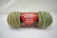 Red Heart Super Saver Multicolor Acrylic Yarn - 1 Skein Aspen Print #305