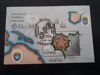 ESPAÑA SPAIN AÑO YEAR 1987 EDIFIL HOJA HB Nº 2956 (o) USADO USED - EXFILNA 88