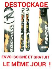 "ski enfant ROSSIGNOL ""RADICAL"" tailles:130cm/140cm+fixations"