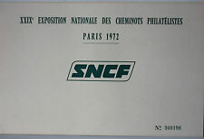 LIVRET XXIX° EXPOSITION NATIONALE DES CHEMINOTS PHILATELISTES PARIS 1972 - SNCF