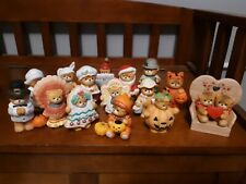 Vintage Enesco Lucy Rigg Holiday Bears Santa Thanksgiving Halloween St. Patricks