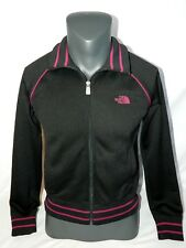 The North Face A5 Series Womens Medium M Black Track Jacket Pink logo Full zip