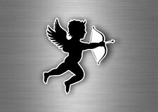 sticker angel cupidon arrow bow love macbook car scooter motorcycle A4 size r1