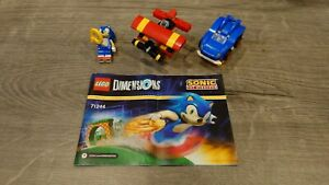 Lego Dimensions Sonic Level Pack 71244 Figure Car & Plane NO CHARACTER BASE READ